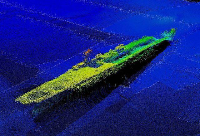 Sonar of USS Saratoga, in Bikini Atoll